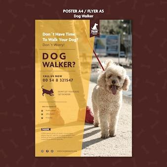 Affiche de promeneur de chien