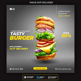 Affiche promotionnelle double cheese burger