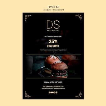 Affiche de restaurant de cuisine moody