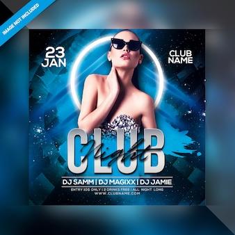 Affiche de soirée club