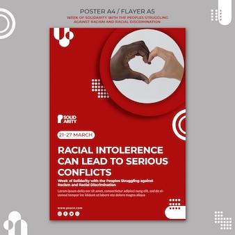 Affiche de solidarité pour les personnes aux prises avec le racisme