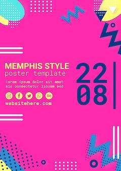 Affiche de style memphis rose