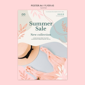 Affiche de vente de collection d'été