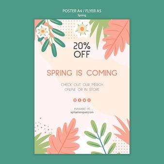 Affiche de vente de collection de printemps