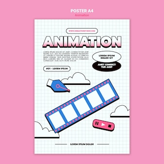 Affiche verticale pour l'animation par ordinateur