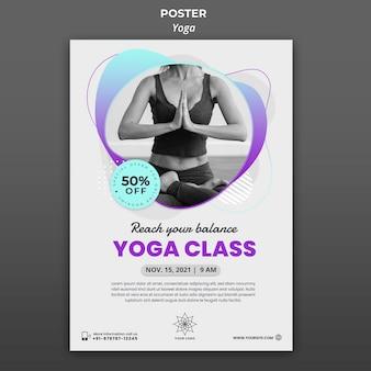 Affiche verticale pour les cours de yoga
