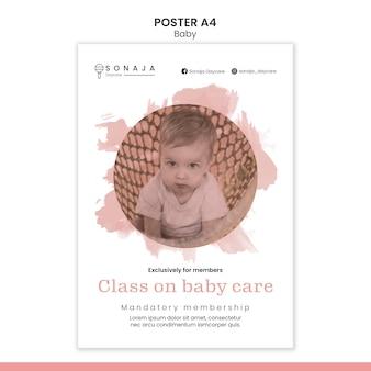 Affiche verticale pour la garderie d'enfants