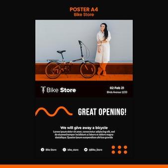 Affiche verticale pour magasin de vélos