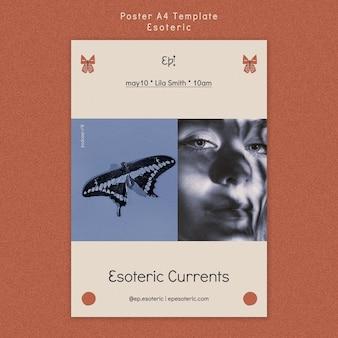 Affiche verticale pour le mysticisme et l'ésotérisme