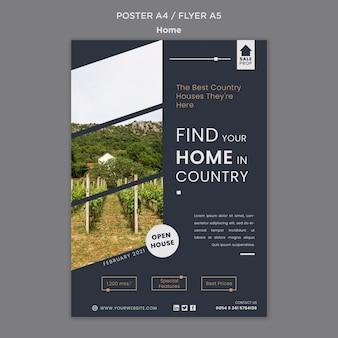 Affiche verticale pour trouver la maison parfaite