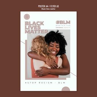 Affiche avec des vies noires comptent