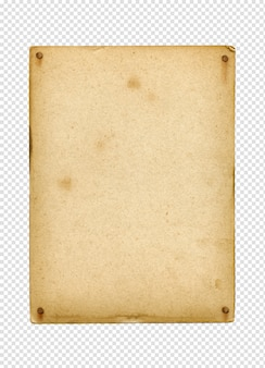 Affiche vintage vierge clouée