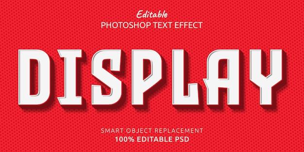 Afficher l'effet de style de texte