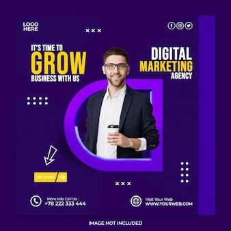 Agence de marketing numérique de concept créatif et modèle de publication sur les médias sociaux