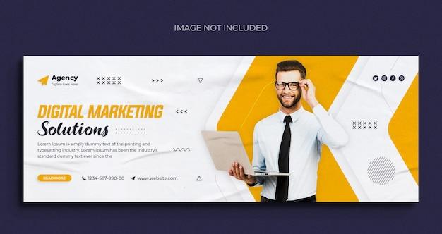 Agence de marketing numérique, médias sociaux, bannière web instagram ou modèle de couverture facebook