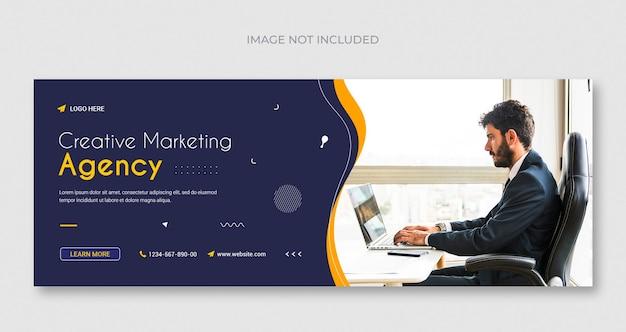 Agence de marketing numérique, médias sociaux, bannière web instagram ou modèle de flyer carré