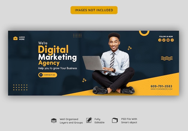 Agence de marketing numérique et modèle de couverture facebook d'entreprise