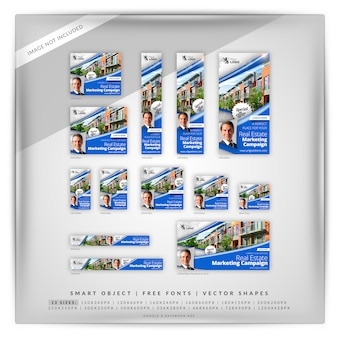 Agent immobilier google banner set