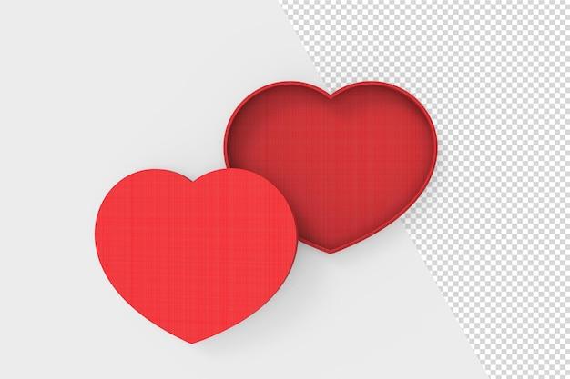 Aime la maquette de formes de coeur 3d isolé