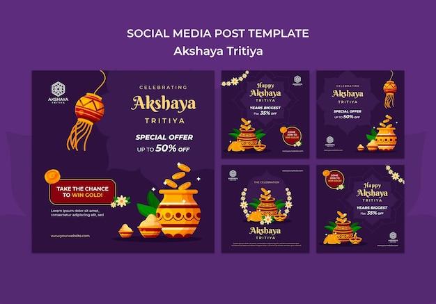 Akshaya tritiya instagram posts