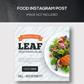 Alimentation instagram post