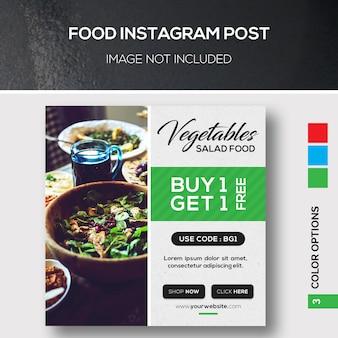 Alimentation instagram post