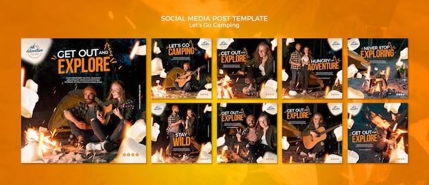 Allons camper les publications sur les réseaux sociaux