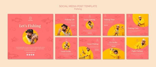 Allons pêcher le modèle de publication sur les médias sociaux