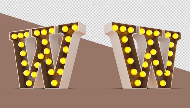 Alphabet 3d avec ampoule