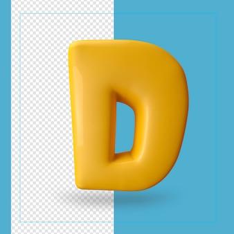 Alphabet 3d d