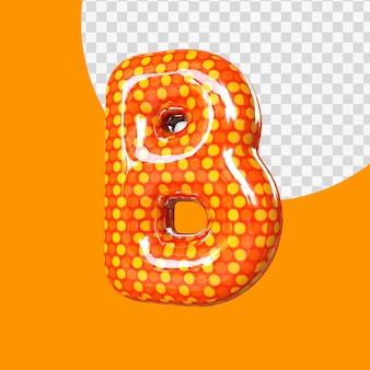 Alphabet de ballon en feuille d'hélium 3d réaliste lettre b