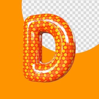 Alphabet de ballon en feuille d'hélium 3d réaliste lettre d