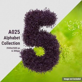 Alphabet, feuilles, numéro 5