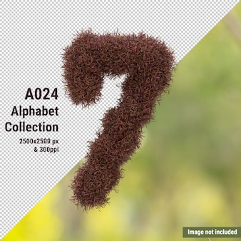 Alphabet vertical d'arbre de jardin rouge et de feuilles vertes et blanches