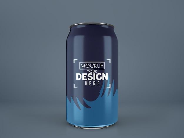 L'aluminium, le métal peuvent emballer des maquettes pour la marque et l'identité.