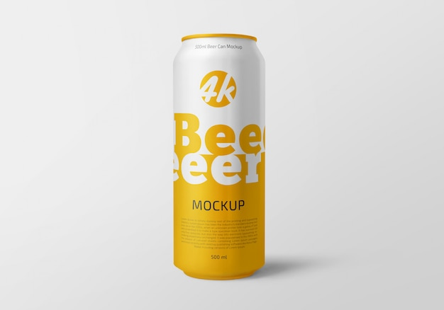 L'aluminium peut mockup bière ou soda pack