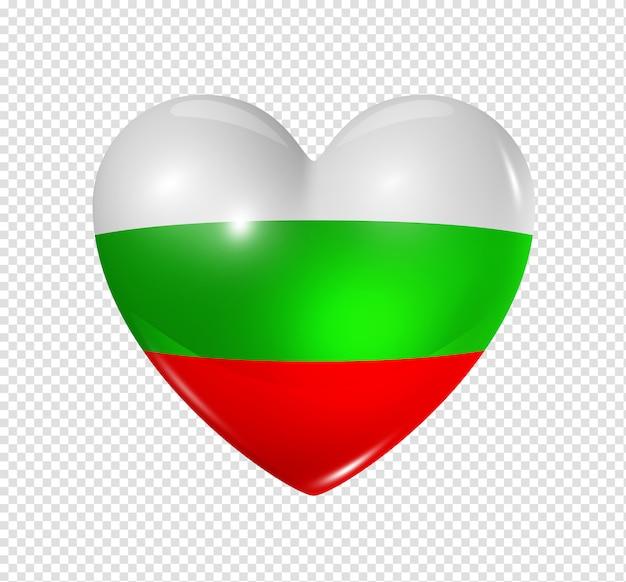 L'amour de la bulgarie, symbole du drapeau coeur