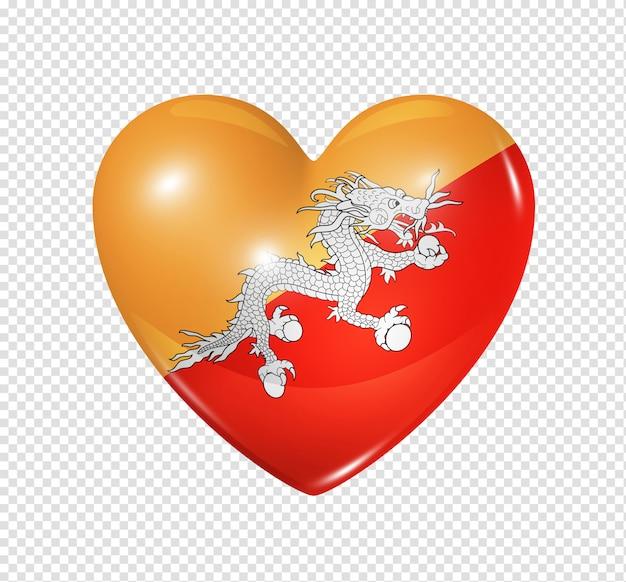 L'amour du bhoutan, symbole du drapeau coeur