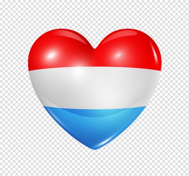 Amour luxembourg, symbole du drapeau coeur