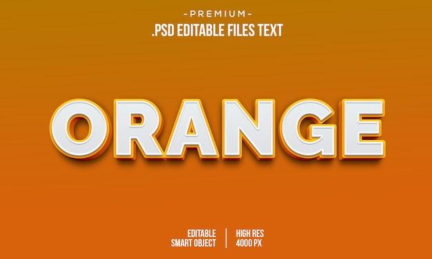Amour orange moderne style dégradé de texte en gras 3d