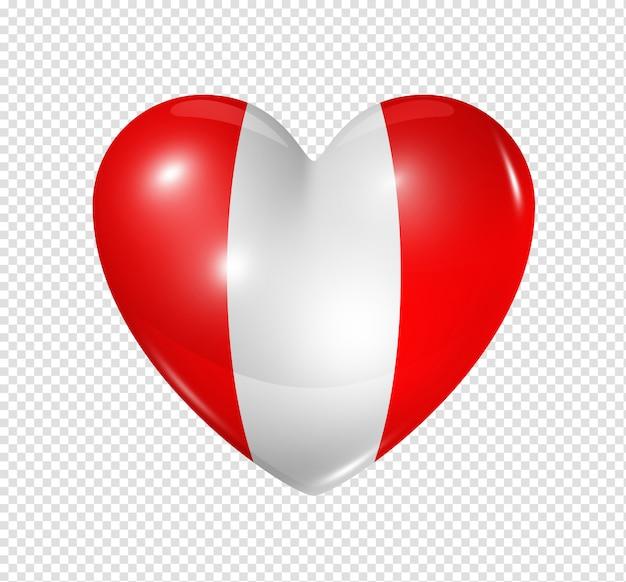 Amour pérou, symbole du drapeau coeur