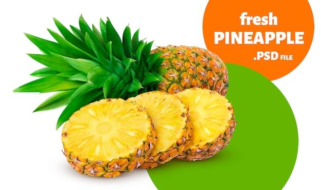 Ananas isolé sur mur blanc