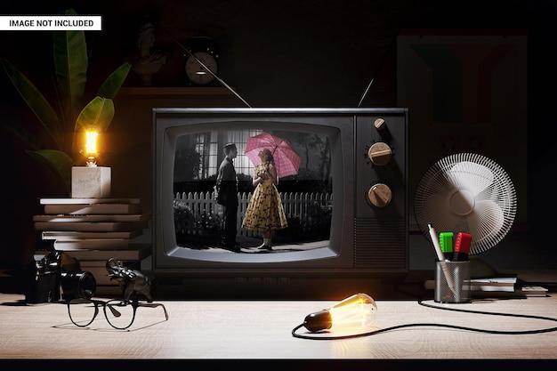Ancienne maquette d'écran de télévision