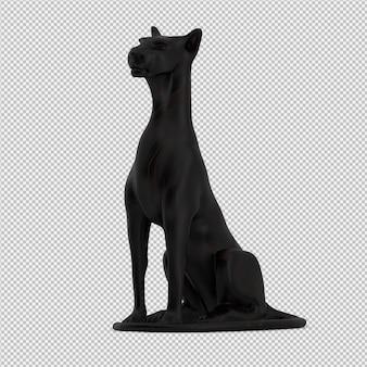 Animal statue 3d rendu isolé