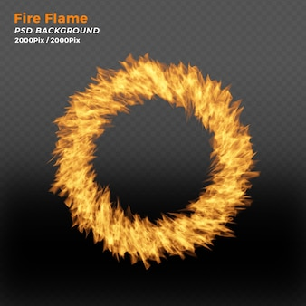 Anneau de feu réaliste avec des particules de feu