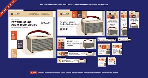 Annonce de bannières de vente de produits numériques