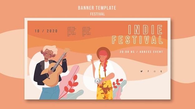 Annonce de festival de modèle de bannière