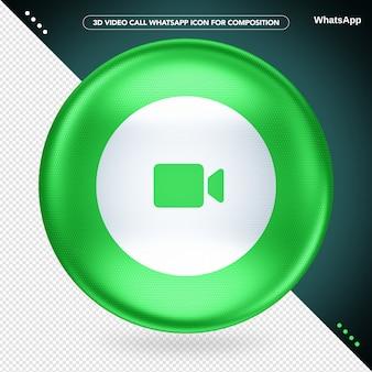Appel vidéo ellipse green 3d whatsapp