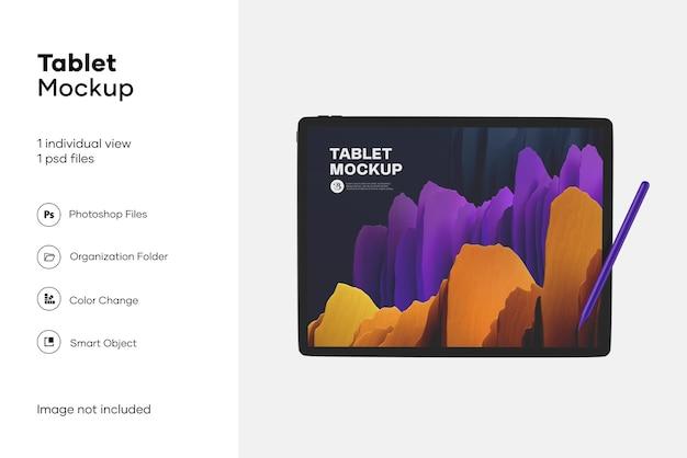 Apple ipad pro avec maquette de stylet