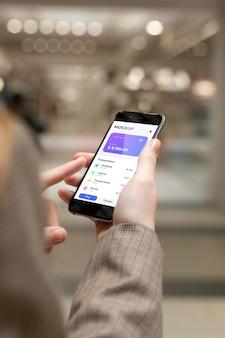 Application de paiement pour maquette de smartphones